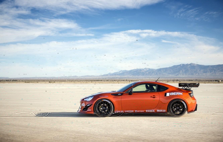 Photo wallpaper orange, tuning, profile, Toyota, tuning, front, orange, Scion, Scion, fr-s, FR-s