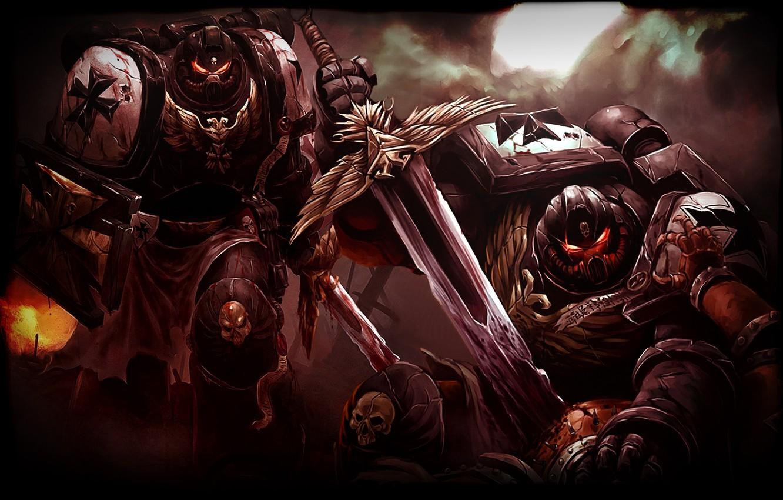 Photo wallpaper Warhammer, Black Templars, Black Templars, 40000