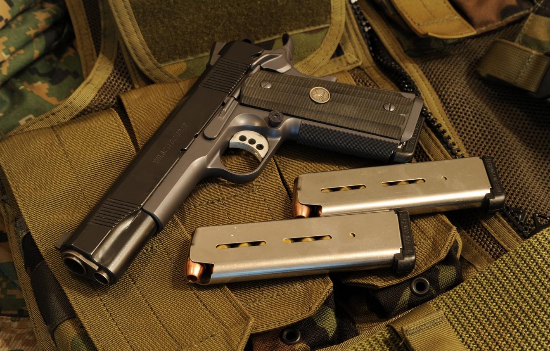 Photo wallpaper gun, weapons, 1911a1, Wilson Combat