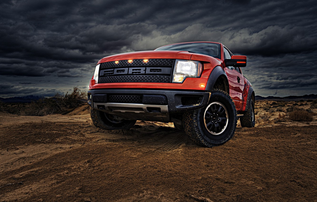 Photo wallpaper red, Ford, Photoshop, car