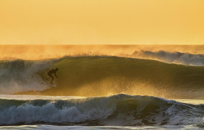 Wallpaper Wave Sunset Squirt The Ocean Sport Athlete