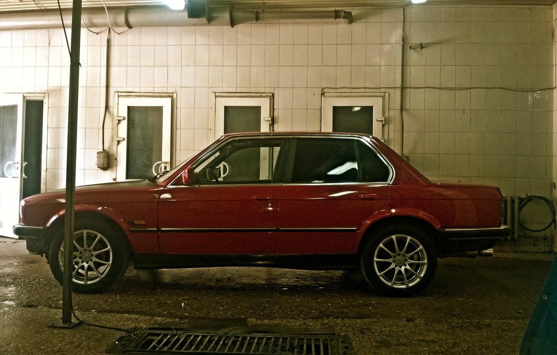 Photo wallpaper BMW, BMW, red, E30, all-wheel drive, 325ix