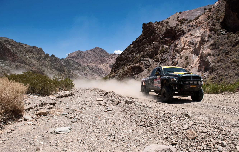 Photo wallpaper Auto, Sport, Desert, Machine, Dodge, Race, Day, Jeep, Rally, Dakar, SUV, Rally, Competition, 2500, Dodge …
