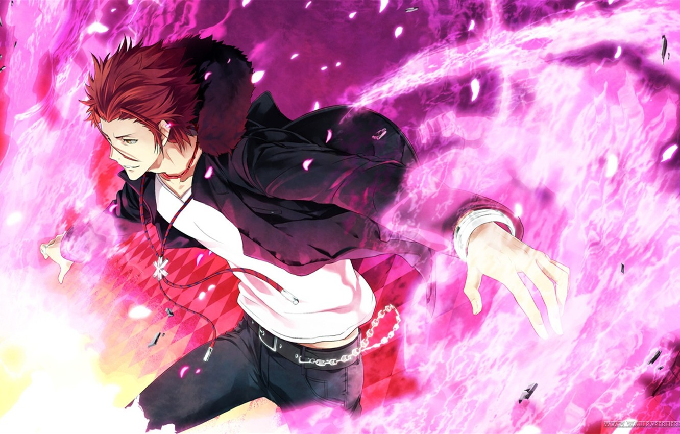 Photo wallpaper Anime, Suoh Mikoto, Project key, red., Key project, Suoh Mikoto