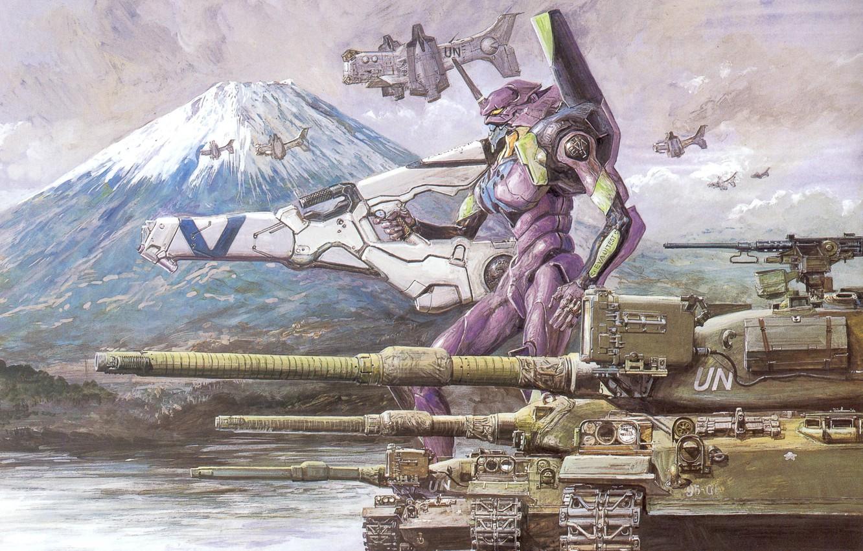 Photo wallpaper tank, neon genesis evangelion, fur, eva-01, eva