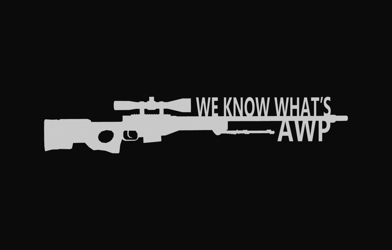 Photo wallpaper awp, sniper rifle, go cs, long range