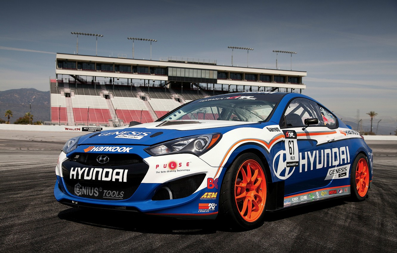Photo wallpaper tuning, Hyundai, track, Genesis, Hyundai, Coupe RMR