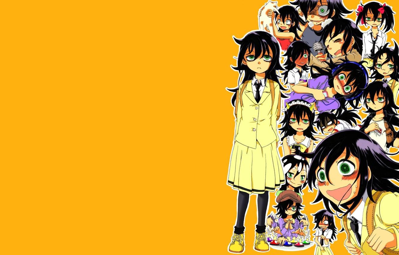 Photo wallpaper girl, orange, Tomoko, Kuroki, They will meet the ga mote kris no of Spot Kangaete …