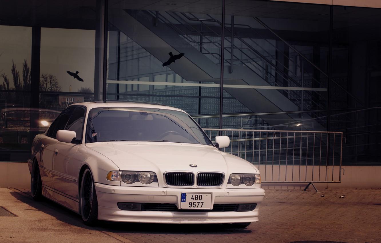Photo wallpaper White, BMW, Boomer, BMW, White, E38, bimmer, 740i