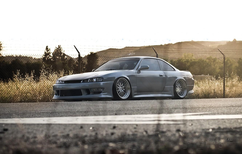 Photo wallpaper road, tuning, coupe, nissan silvia s14, Nissan Silvia