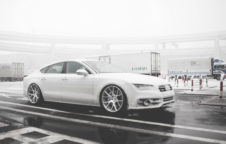 Photo wallpaper Audi, Audi, black, Vossen