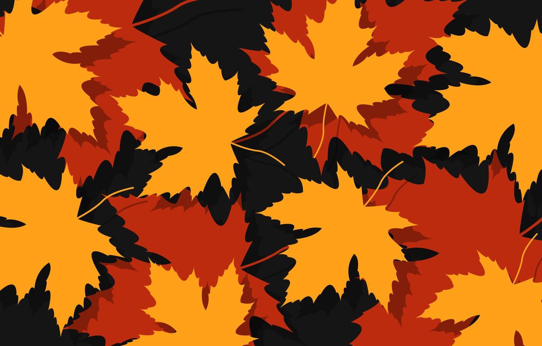 Photo wallpaper autumn, leaves, autumn, foliage