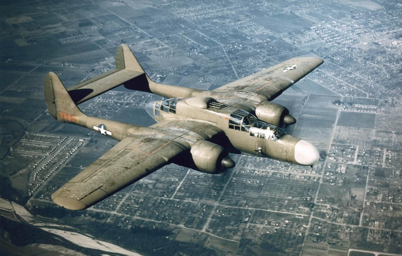 Обои p-61, ww2, black widow, painting, истребитель, P-61 black widow, aircraft art. Авиация foto 11