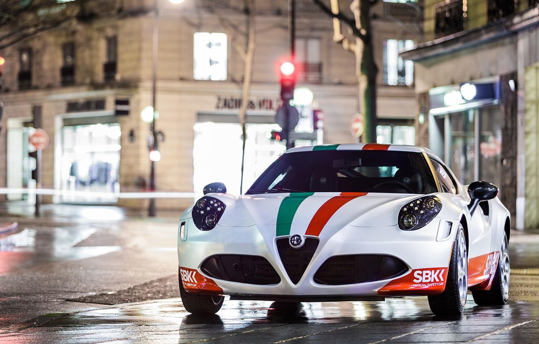Photo wallpaper Alfa Romeo, Night, Street