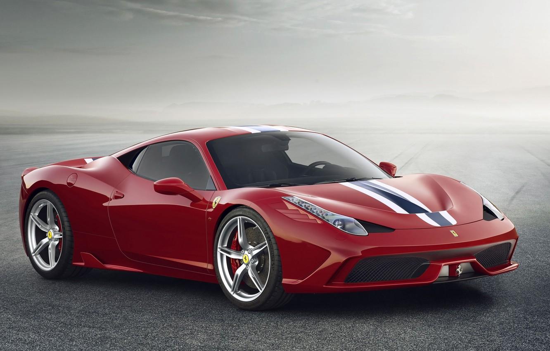 Photo wallpaper Ferrari, Red, 458, Italy, Speciale, 2014