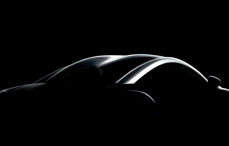Photo wallpaper silhouette, Peugeot, RCZ, Black Front