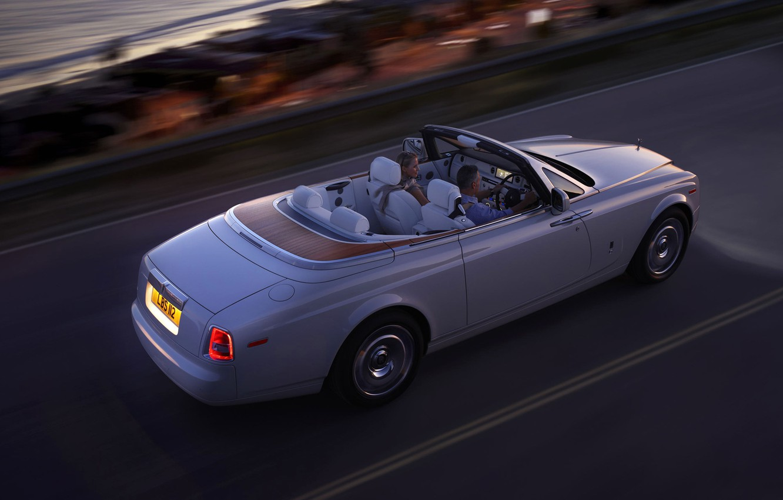 Photo wallpaper road, Rolls-Royce, Phantom, convertible, rolls Royce, Drophead