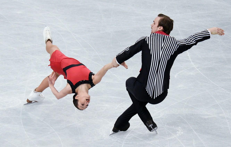 Photo wallpaper ice, rotation, Japan, figure skating, skaters, Ksenia Stolbova, Olympic Champions, Fedor Klimov, silver medalists, The …