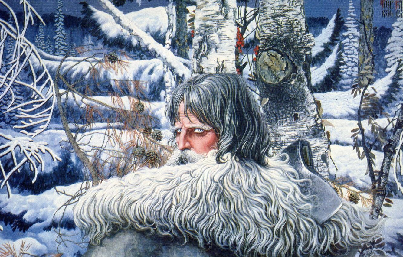 Photo wallpaper winter, snow, trees, Russia, Konstantin Vasiliev, Northern eagle