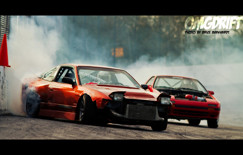 Photo wallpaper red, tuning, smoke, nissan, drift, 200sx, 240sx, 180sx, Nissan 240sx