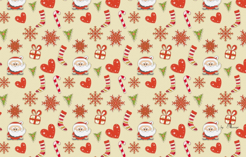 Photo wallpaper new year, Christmas, Santa