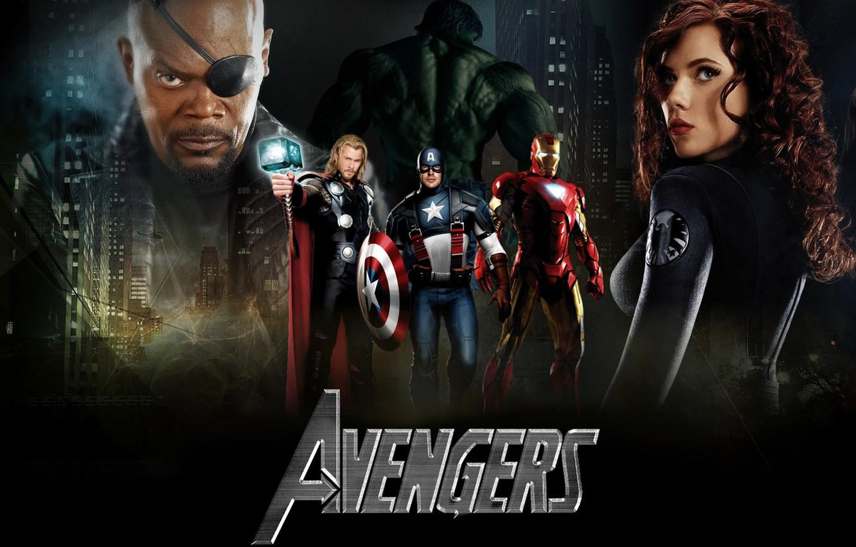 Photo wallpaper Scarlett Johansson, The Avengers, The Avengers