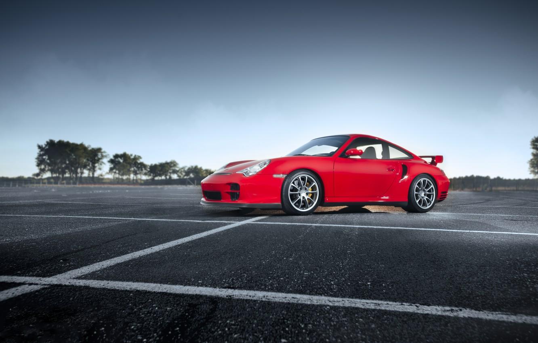 Photo wallpaper 911, Porsche, GT2, 2004, 996