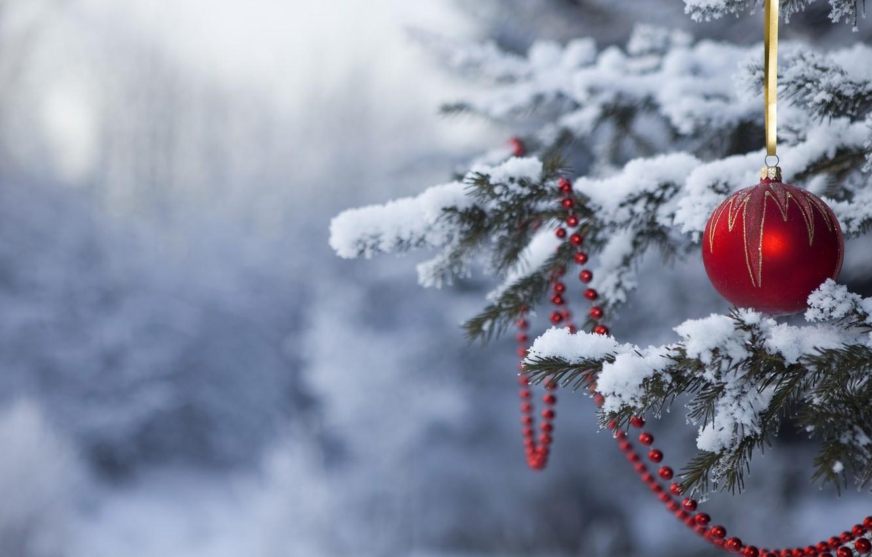 Photo wallpaper snow, holiday, toys, tree, new year, happy new year, Christmas Wallpaper