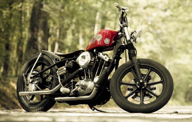 Photo wallpaper design, motorcycle, bike, Harley-Davidson