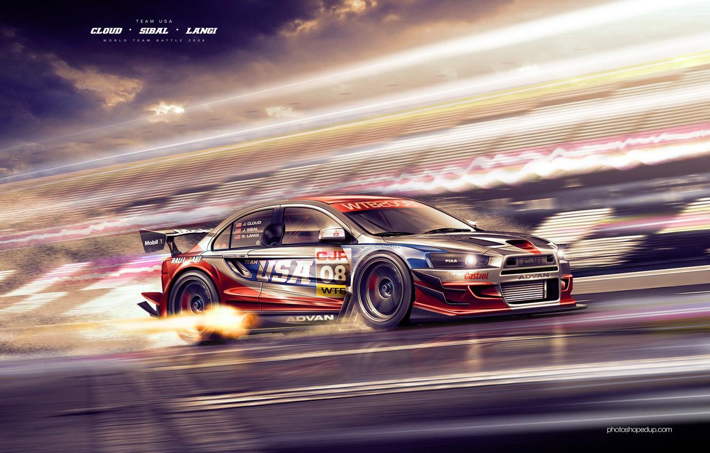 Photo wallpaper auto, sport, cars, Mitsubishi, cars, lancer, evolution, auto wallpapers, car Wallpaper, Lancer, auto photo, DTM, …