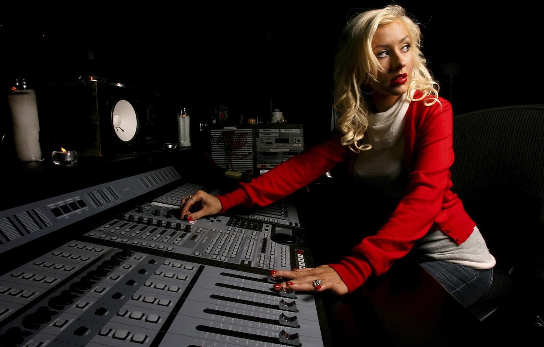 Photo wallpaper background, singer, Christina Aguilera, Studio, Christina Aguilera