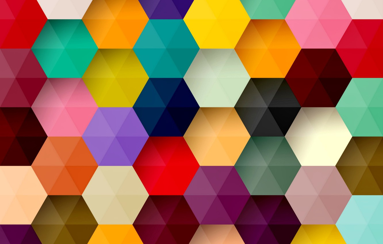Photo wallpaper abstraction, background, colors, colorful, abstract, background, honeycomb, hexagon