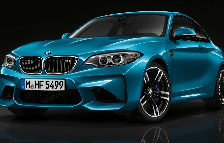 Photo wallpaper BMW, Blue, Coupe, (2015)