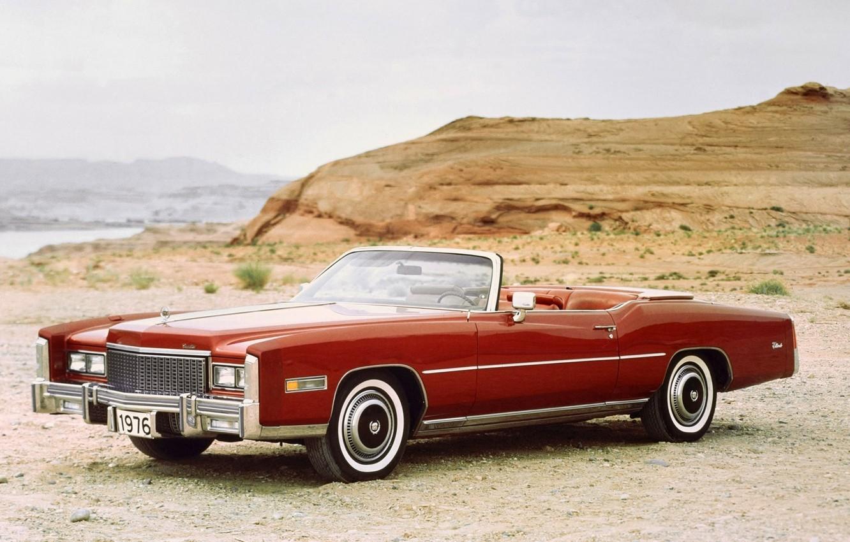 Photo wallpaper background, Eldorado, Cadillac, the front, 1976, Convertible, Cadillac, Fleetwood