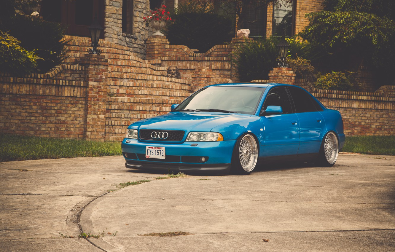 Photo wallpaper Audi, Audi, before, blue, blue