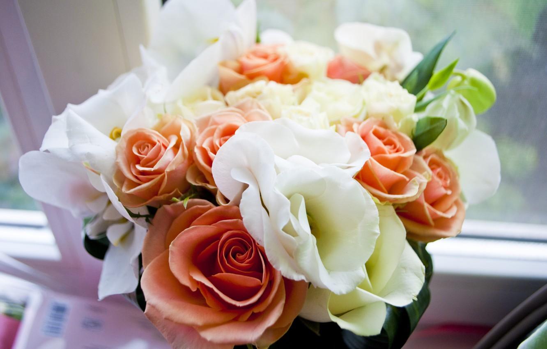 Photo wallpaper tenderness, Flowers, bouquet, wedding