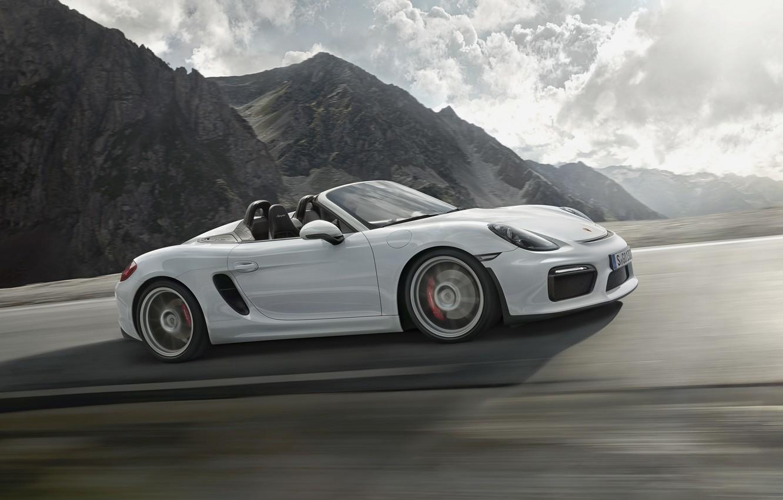 Photo wallpaper Porsche, Porsche, Boxster, Spyder, 2015, 981, bokster