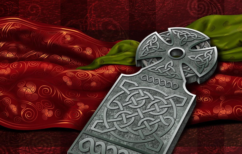 Photo wallpaper patterns, characters, Celtica, celtic cross, Nation culture, Celtic cross