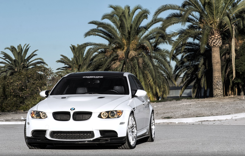 Photo wallpaper BMW, White, Wallpaper, Sedan, E90, Concept One