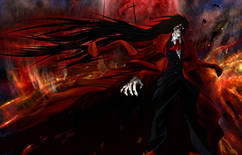 Photo wallpaper Anime, Hellsing, vampire, Alucard, crazy.