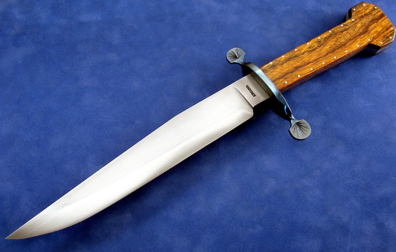 Photo wallpaper Wallpaper, knife, blue background, blade, the handle, Garda