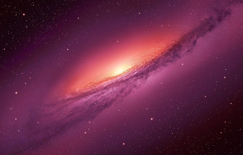 Photo wallpaper light, stars, cosmos