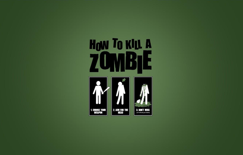 Photo wallpaper how to kill zombie, how to kill a zombie
