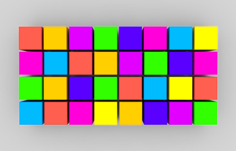 Photo wallpaper line, paint, cubes, texture, the volume, square