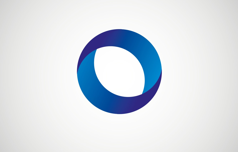 Photo wallpaper simple, wallpaper, logo, blue, background, cool, gray, round, cirkel