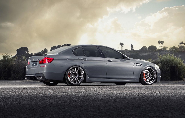 Photo wallpaper BMW, BMW, F10, rearside