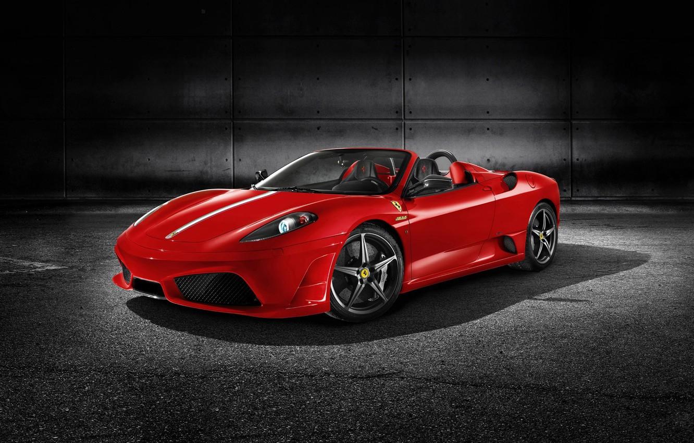 Photo wallpaper red, Ferrari F430, sports car, Scuderia-Spider