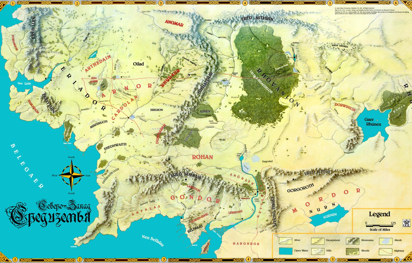 Photo wallpaper map, John. R. R. Tolkien, The Lord of the Rings, John Ronald Reuel Tolkien, Middle …