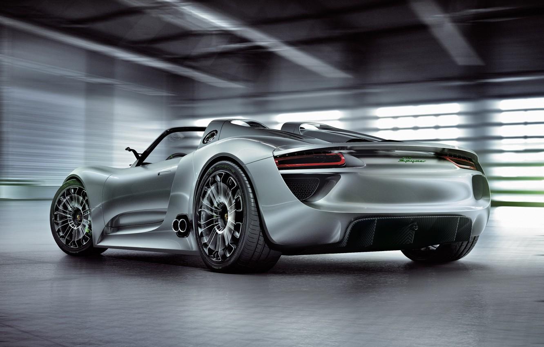 Photo wallpaper Concept, Porsche, the concept, car, Spyder, 918, beautiful, back