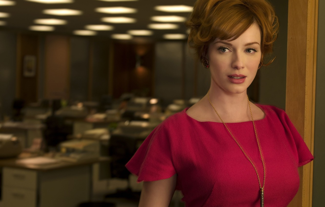 Photo wallpaper woman, actress, red, Christina Hendricks, Go Harris